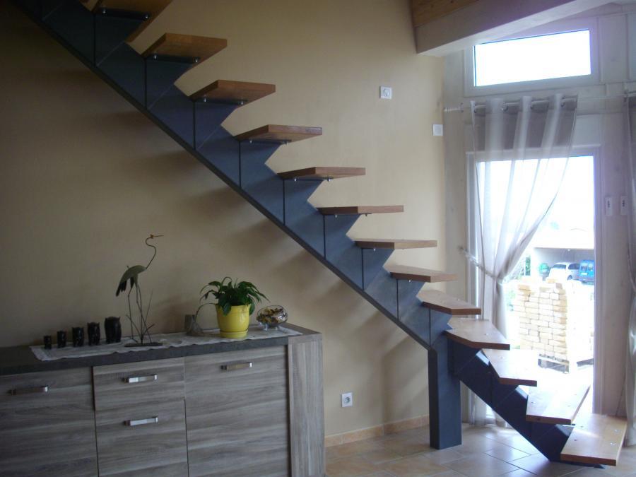 La forge de taranis escaliers rampes gardes corps - Escalier a limon central en fer ...